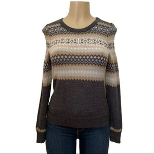 The Limited Wool Blend Fair Isle Gemmed Sweater